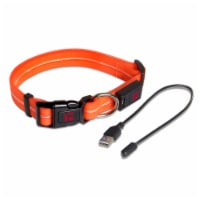 """Rechargeable LED Adjustable Collar Large - 16"""" to 22"""" - Orange - Each"""