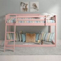Ergode Twin Loft Bed Pink Finish - 1