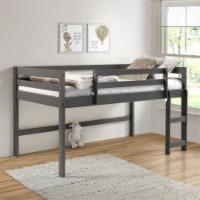 Ergode Twin Loft Bed Gray Finish - 1