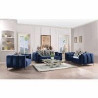 Ergode Sofa (w/5 Pillows) Blue Velvet - 1