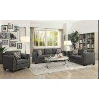 Ergode Sofa (w/4 Pillows) Light Charcoal Linen - 1