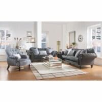 Ergode Sofa (w/4 Pillows) Dark Gray Velvet - 1