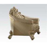 Ergode Chair (w/1 Pillow) Bone PU & Gold Patina - 1