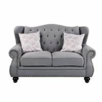 Ergode Loveseat w/2 Pillows Gray Fabric - 1