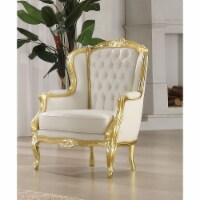 Ergode Accent Chair Gold Frame & White PU - 1