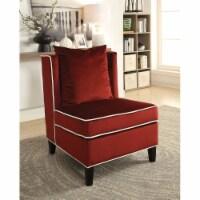 Ergode Accent Chair Red Velvet - 1