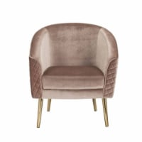 Ergode Accent Chair Velvet & Gold - 1