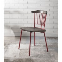 Ergode Side Chair (Set-2) Red & Brown Oak - 1