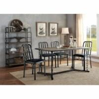 Ergode Dining Table Rustic Oak & Antique Black - 1