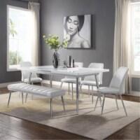Ergode Side Chair (Set-2) White PU & Chrome - 1