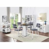 Ergode Counter Height Chair (Set-2) Gray Fabric & White - 1