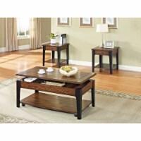 Ergode Coffee Table w/Lift Top Brown Oak & Black - 1