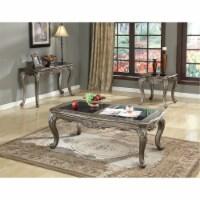 Ergode Coffee Table w/Granite Black Granite & Antique Platinum - 1