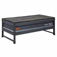 Ergode Lift-Top Coffee Table Weathered Oak & Gunmetal Finish - 1