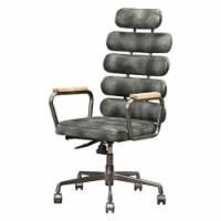 Ergode Executive Office Chair Vintage Black Top Grain Leather - 1