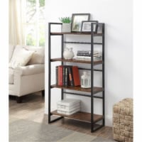 Ergode Bookshelf Rustic Oak & Black Finish - 1