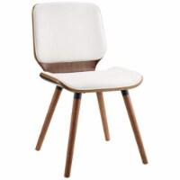 Ergode Accent Chair White PU & Walnut - 1