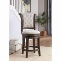 Ergode Bar Chair (Set-2) Beige Fabric & Walnut - 1