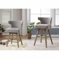 Ergode Counter Height Chair (Set-2) Fabric & Oak - 1