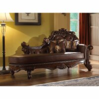 Ergode Chaise w/2 Pillows PU & Cherry - 1