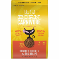 Tiki Pet 25147014 5.6 lbs Born Carnivore Chicken & Egg Dry Food for Cat - 1