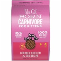 Tiki Pet 25147026 2.8 lbs Cat Born Carnivore Chicken & Egg Kitten Dry Food - 1