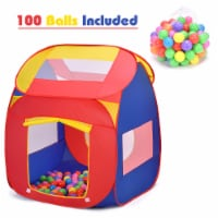 Costway Portable Kid Baby Play House Indoor Outdoor Toy Tent Game Playhut With 100 Balls - 1 unit