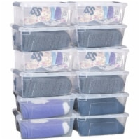 Costway 12 Pack Latch Stack Storage Box Tubs Bins Latches Handles - 1 unit
