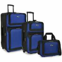 Traveler's Choice New Yorker Rolling Luggage Set - Blue