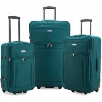 Traveler's Choice Elite Luggage Gondola Softside Rolling Luggage - Teal