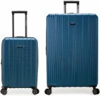Traveler's Choice Dana Point Expandable Hard-Shell Luggage Set with USB Port - Navy