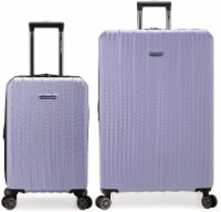 Traveler's Choice Dana Point Expandable Hard-Shell Luggage Set with USB Port - Light Lavender