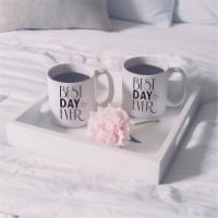 Cathys Concepts BDE-3900 Personalized Best Day Ever 20 oz Large Coffee Mugs - Set of 2