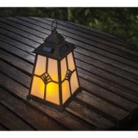 Winsome House Flaming Lights Lighthouse LED Lantern, Black & Brown - 1