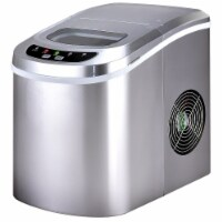 Costway Sliver Portable Compact Electric Ice Maker Machine Mini Cube 26lb/Day - 9.5''x14.0''x12.9''