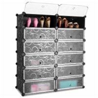 Costway 12 Cubic Portable Shoe Rack Shelf Cabinet Storage Closet Organizer Home Furni - 37.4'' x14.6''x43''