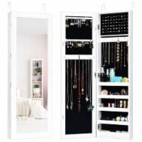 Costway Jewelry Cabinet Storage Organizer,Door Mounted Mirrored - 1 unit