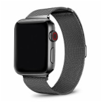 Infinity Black Stainless Steel Band for Apple Watch Series 1,2,3,4,5,6 & SE - Size 42mm/44mm - 42mm/44mm