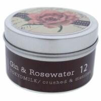 TokyoMilk Gin & Rosewater Tin Candle  # 12 4 oz - 4 oz