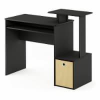 Furinno Econ Multipurpose Office Computer Writing Desk with Storage Bin, Black - 1 Piece