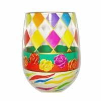 95 & Sunny SLDIAMONDS 18 oz Diamonds Bottoms Up Stemless Wine Glass
