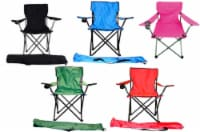 Valu Mart Folding Chair With Cup Holder - Assorted