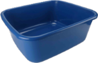 VM International Square Plastic Basin - Blue