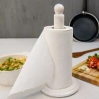 RADICALn Paper Towel Holder White Handmade Marble Kitchen Towels Rack Paper Roll Holder - 1