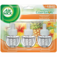 Air Wick Plug-in Air Freshener Scented Oil Refills Island Paradise, 3 Refills