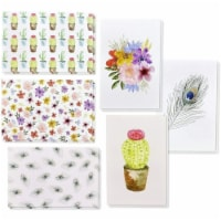 48-Pack Greeting Card w/ Envelopes 6 Watercolor Design For All Occasion, 4 x6 - PACK