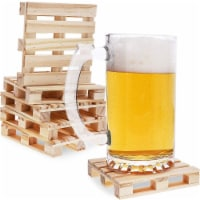Mini Wooden Pallet Beverage Coasters for Hot and Cold Drinks (6 Pack) - Pack