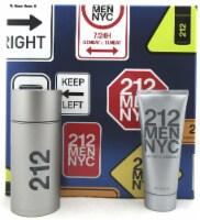 212 MEN NYC by Carolina Herrera 3.4 oz. EDT Spray+ 3.4 oz. A/Shave Gel. New Set - 3.4OZ + 3.4OZ