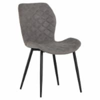 Sunpan Lyla 18  Modern Faux Leather Dining Chair in Black/Antique Gray - 1