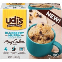 Udi's Gluten Free Blueberry Muffin Mug Cakes Mix 4 Count